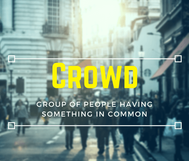 Crowd – a definition image