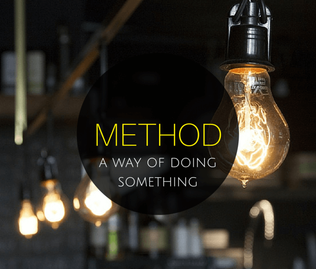 Method – a definition image
