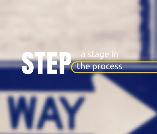 Step – a definition image